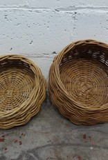 Disc Shaped Woven Basket