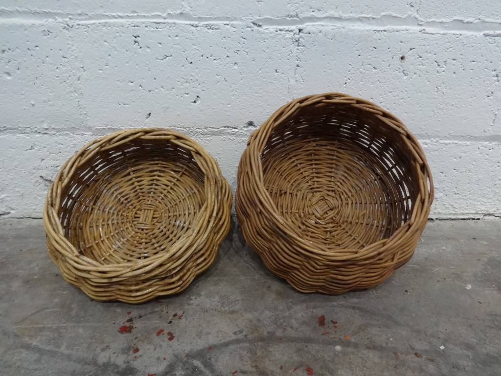 Disc Shaped Woven Basket