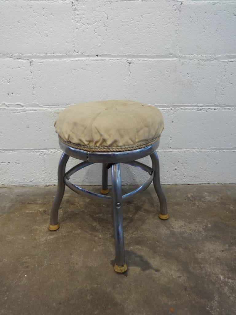 White Cushion Stool