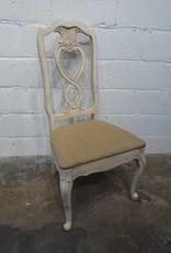 White Heart Chair with Cream Cushion
