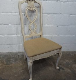 White Heart Chair with Cream Cushion