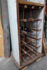 Teak Fishing Boat Wine Rack 1