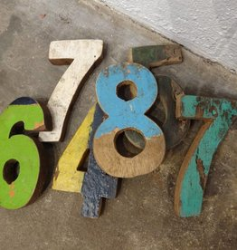 Teak Fishing Boat Number & Letter