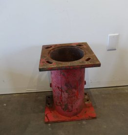 Industrial Red Pipe Table Base