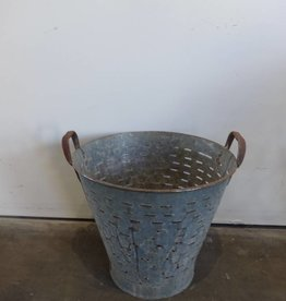 Industrial Metal Bucket Olive Strainer