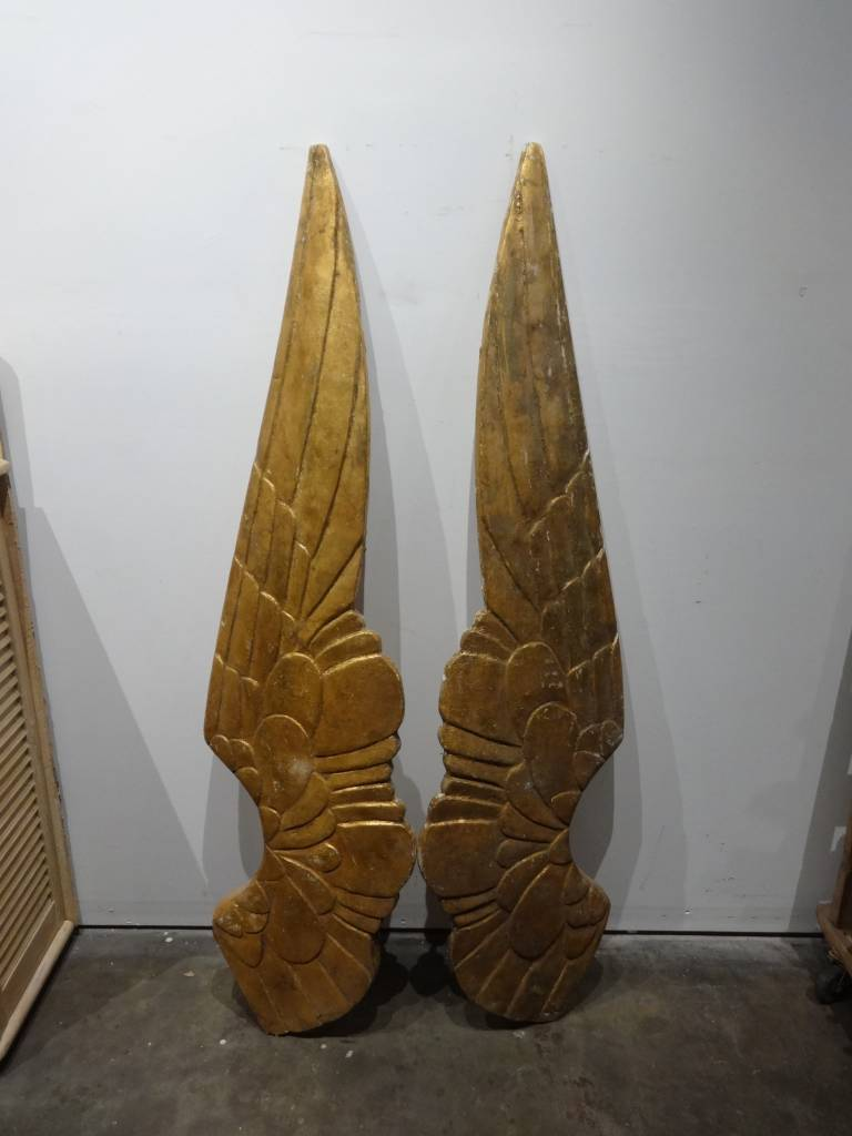 Giant Golden Angel Wings SET