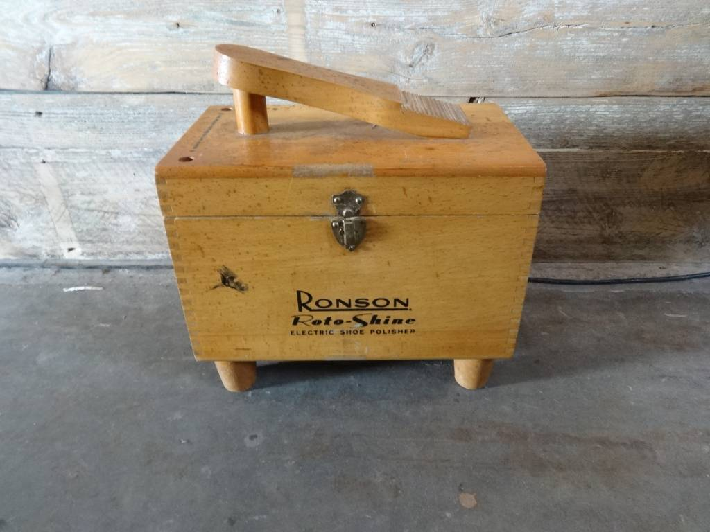 Vintage Ronson Roto - Shine Electric Shoe Polisher and Box