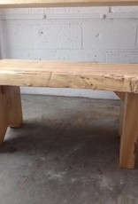 Maple Live Edge Bench