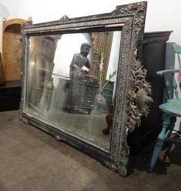 Antique Black French Mirror