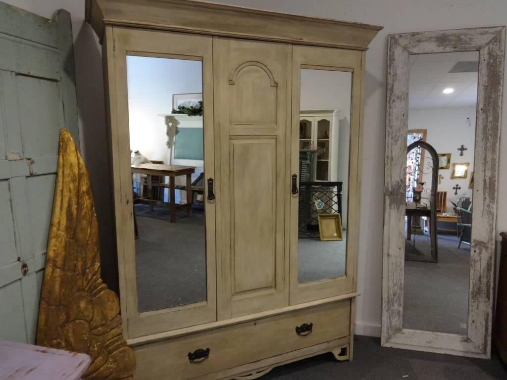 Tan Armoire w Double Mirrors