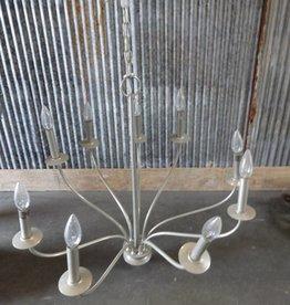 Nine Light Simple Silver Chandelier