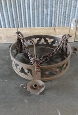 Three Candle Round Iron Medieval Chandelier