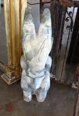 Gobi Green Stone Statue