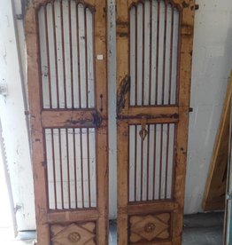 Peach Iron & Teak Indian Gates SET 2