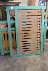 Green & Orange Teak Fence Panel MEDIUM