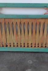 Green & Orange Teak Fence Panel LARGE