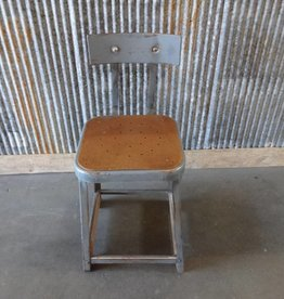 Vintage Metal & Wood Industrial Chair