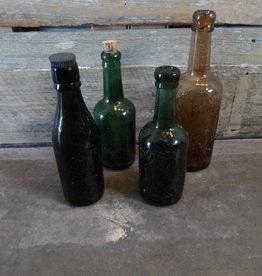 Vintage Glass Bottle MEDIUM
