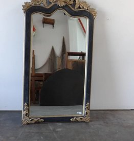 Black & Gold Ornate Mirror