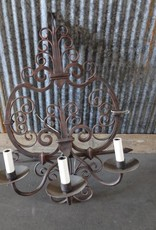 Triple Iron Lamp Sconce