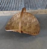 Bamboo Magazine Basket w Handle