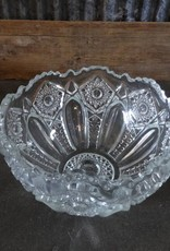 "8"" Fancy Glass Bowl"