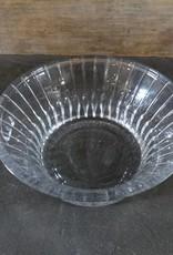 "9"" Striped Glass Bowl"