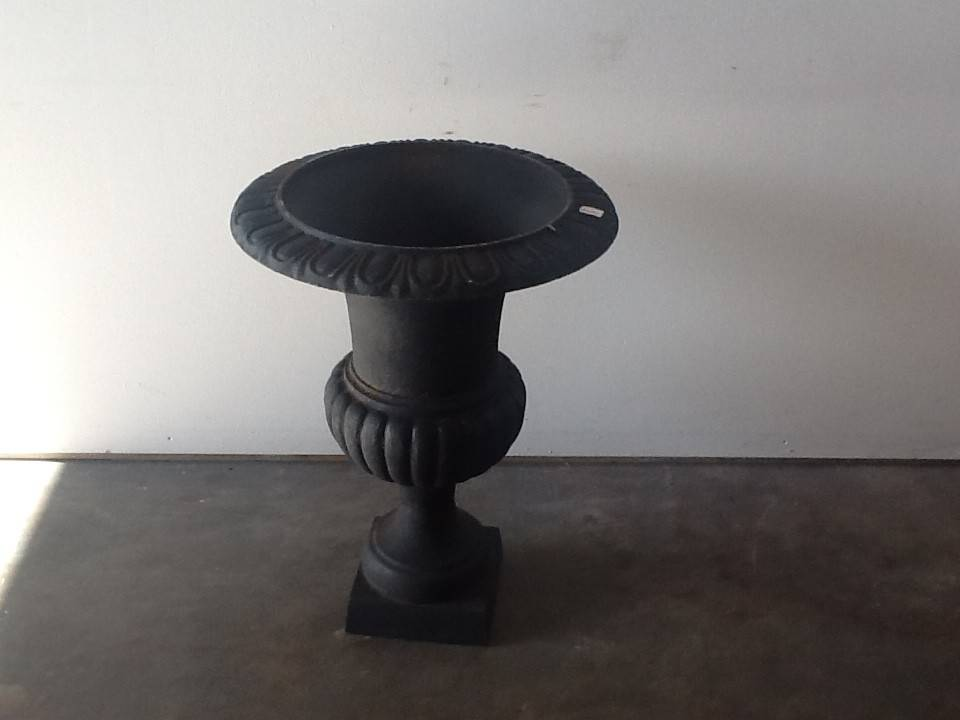 Black Metal Urn LARGE