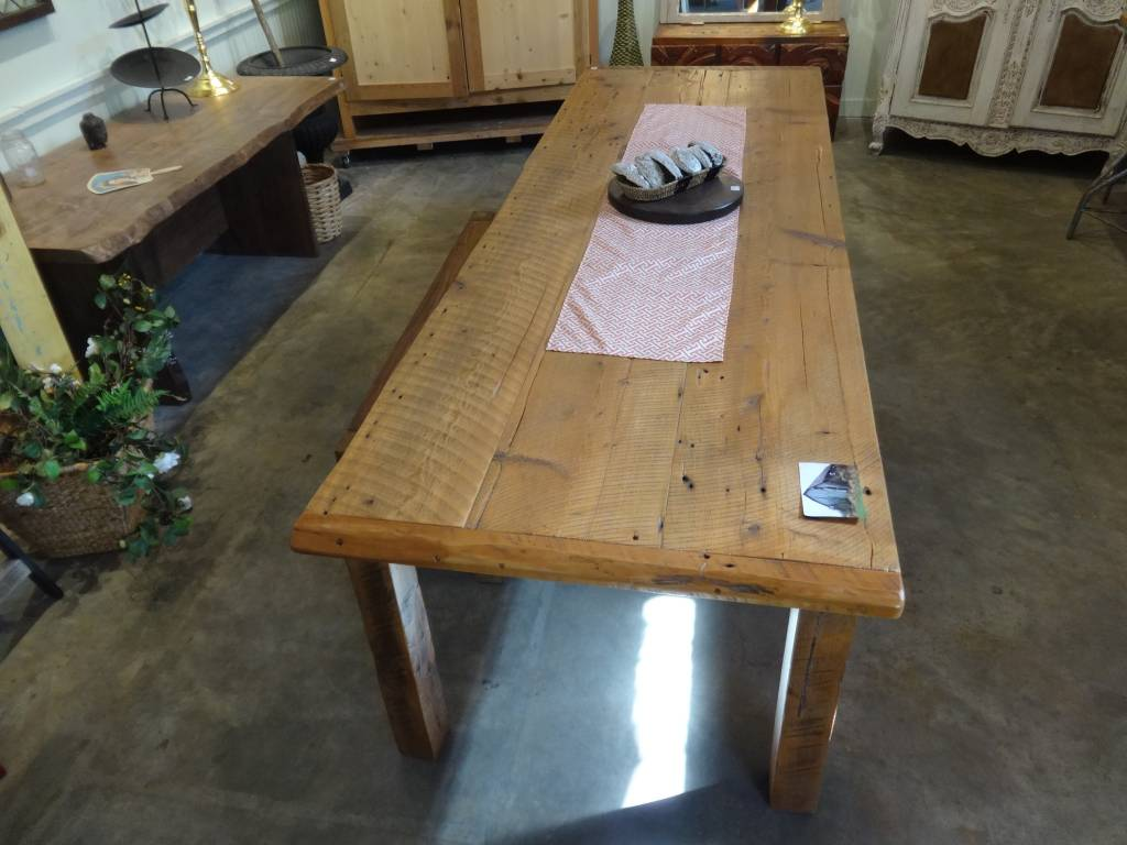 10' Reclaimed Barn Wood Dining Table
