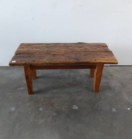 Reclaimed Chopped Barn Wood Bench 3.5'