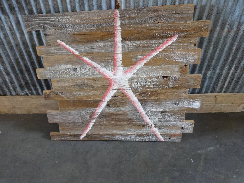 Starfish on Barn Board