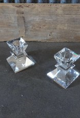 Glass Candle Stick SET SMALL