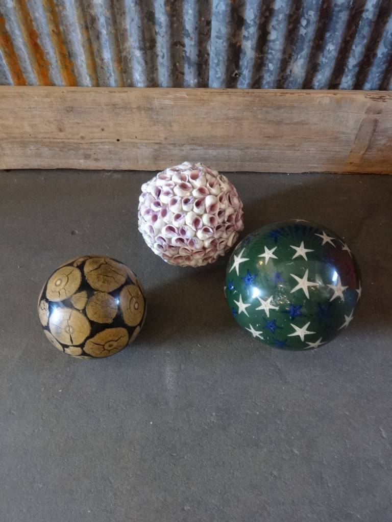 Shell, Starfish, Driftwood Balls