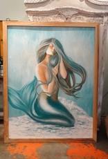"""""""Blue Mermaid"""" Artist Alexis Fraser Acrylic on Canvas"""