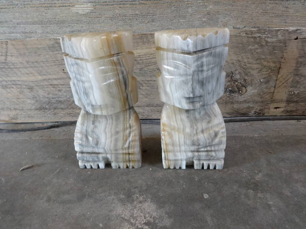 Stone book ends (pair)