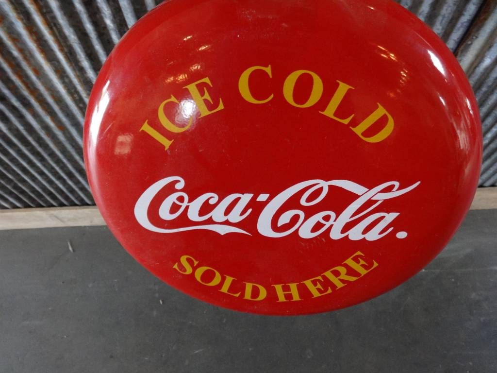 Small round Coke Metal Sign
