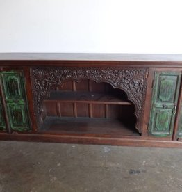 Indian Carved 4 Door Console