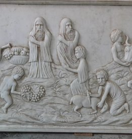 Marble Carved Relief Scene