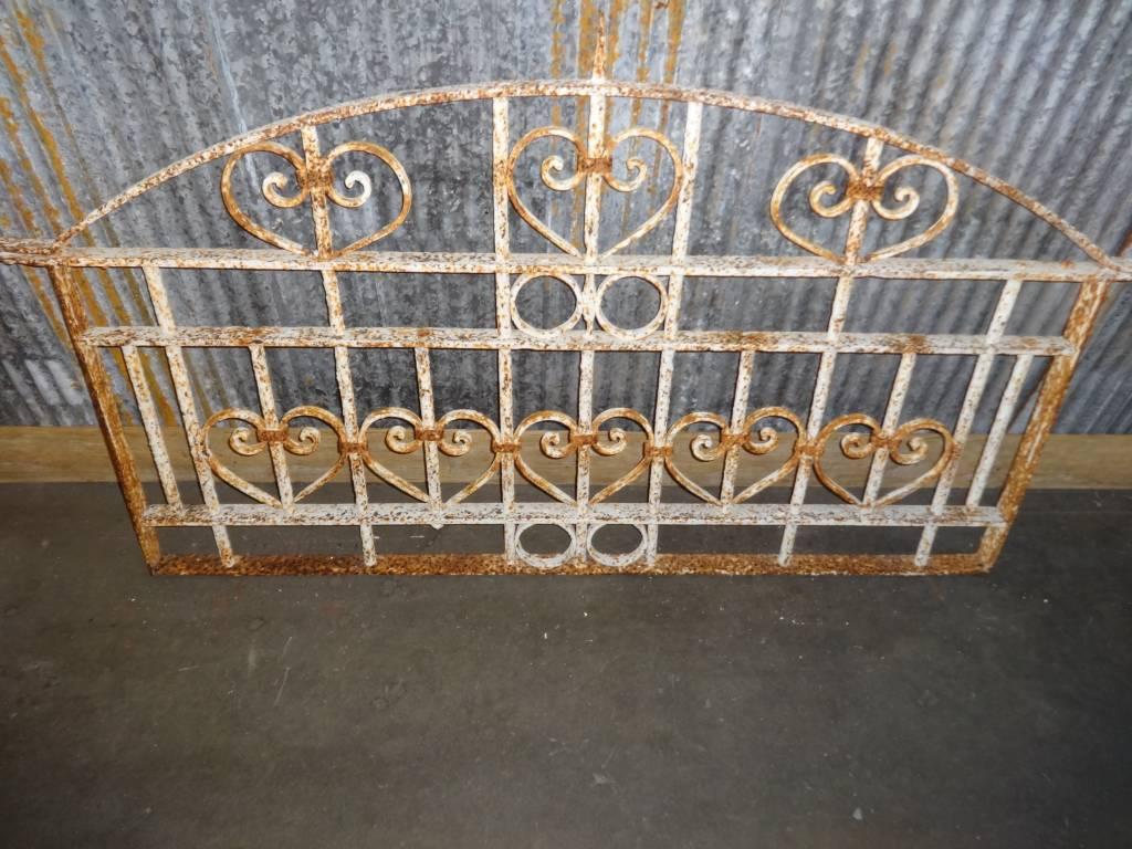 Iron white gate