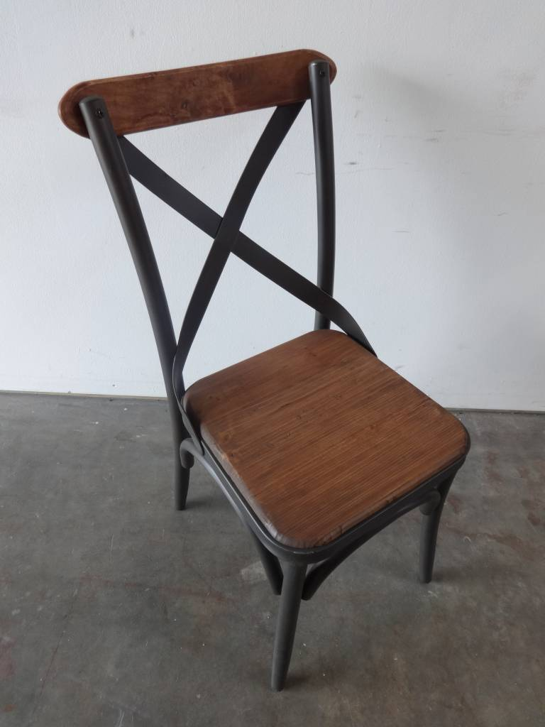 Reclaimed Pine and Metal Chair
