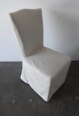 Upholstered White/Black Chair