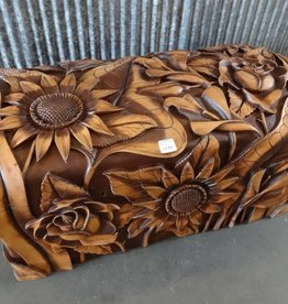 Hand Carved Honduran Cedar Trunk