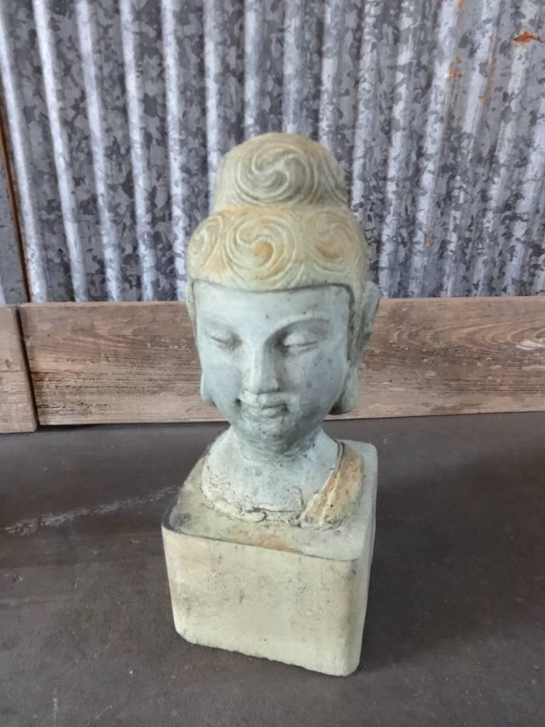 Small Buddha Head w/ round bun