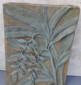 Floral Concrete Plaque
