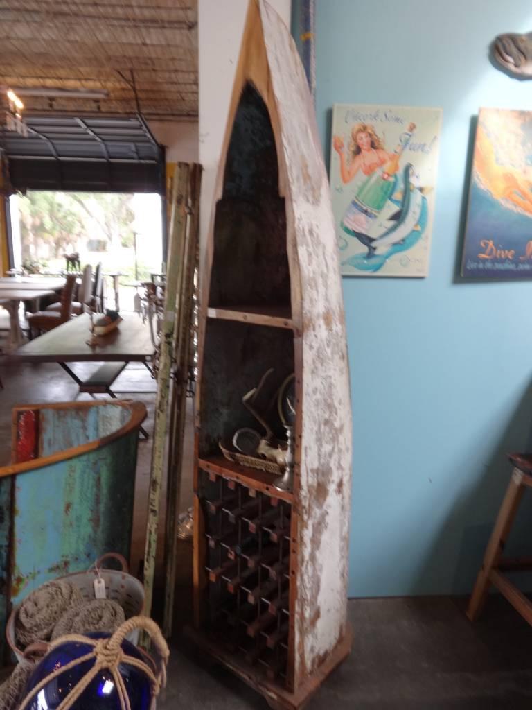 Teak Fishing Boat Wine Rack 2