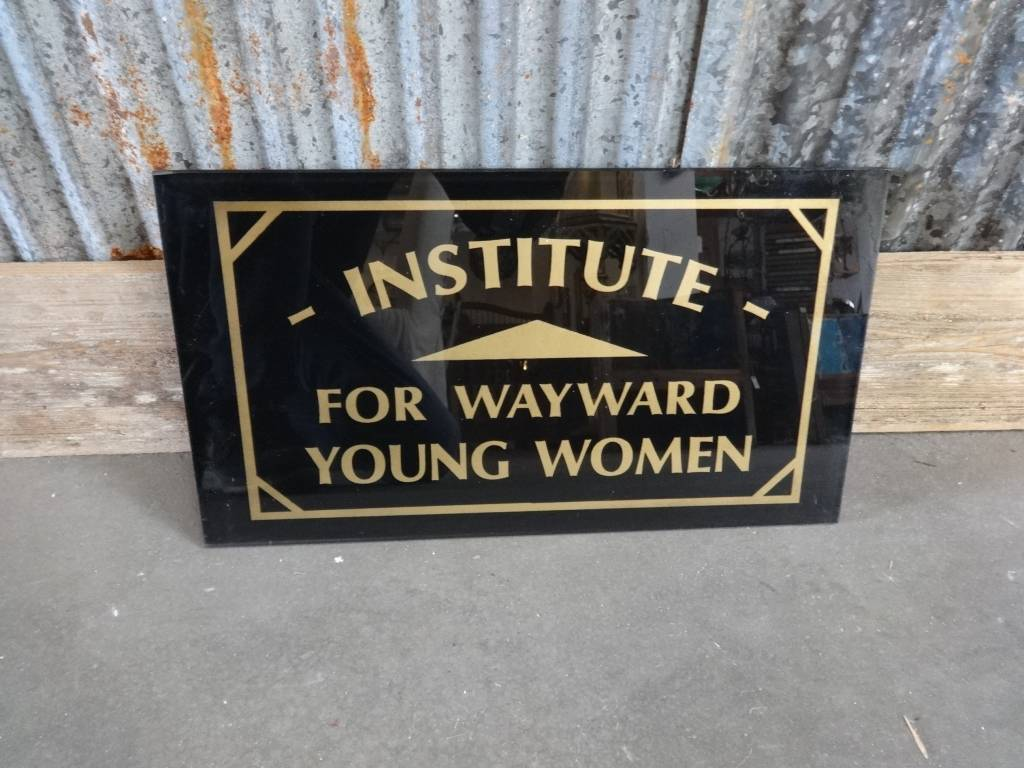 Institute For Wayward Women Small Glass Sign