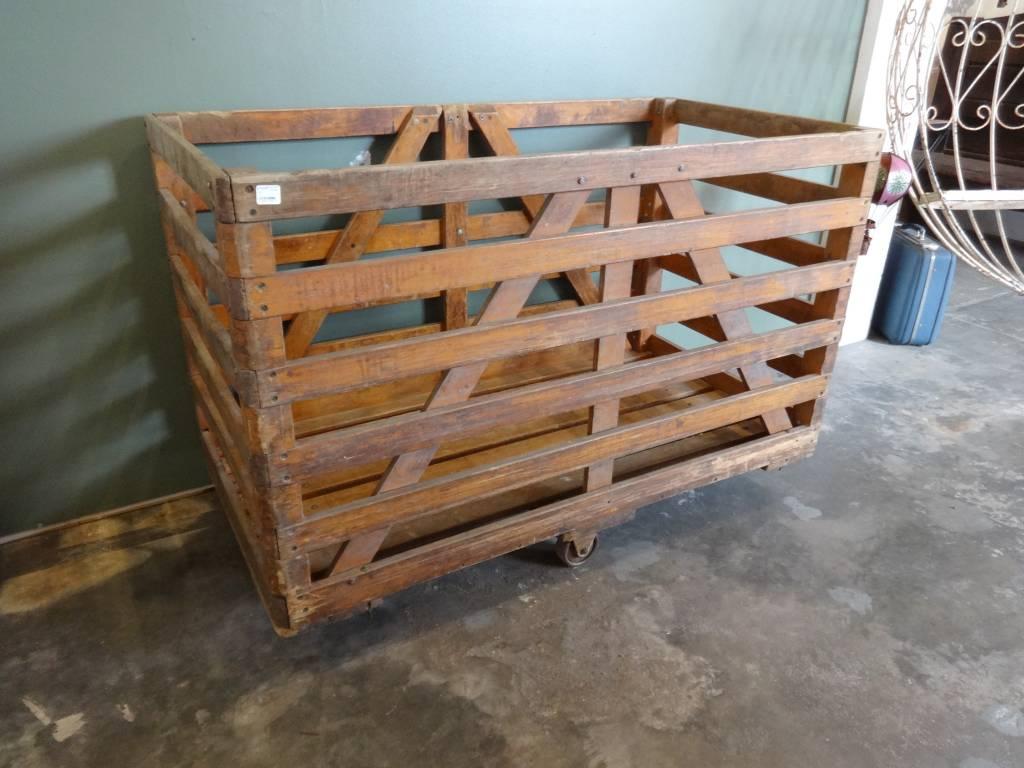 Industrial Wooden Cart