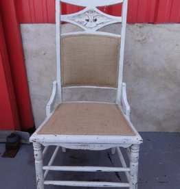 White Shabby Diamond Side Chair
