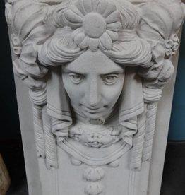White cast Architectural Face