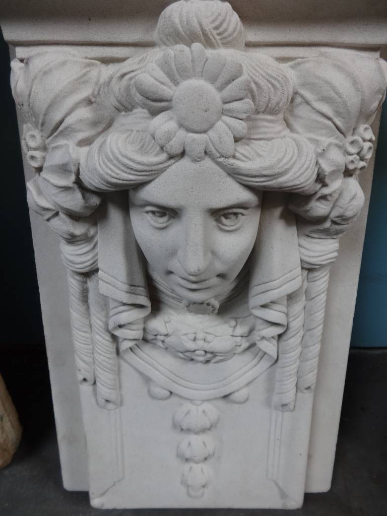 White cast Architectural Face